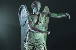 The restored bronze statue Winged Victory returns to Brescia